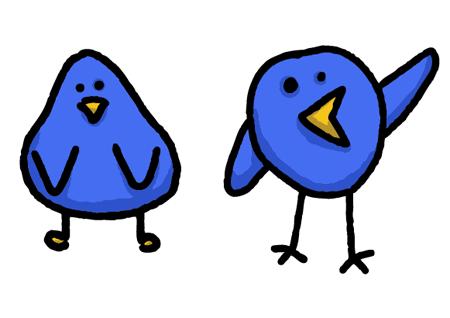 Twitter cute. Simple bird graphics free