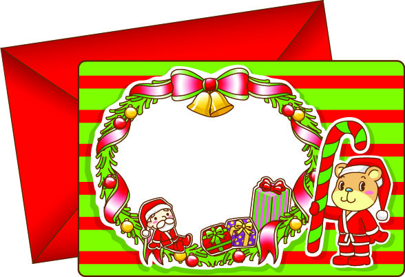 free vector 8 lovely christmas card vector
