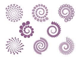 free vector 8 Spirals - Free Vector Set