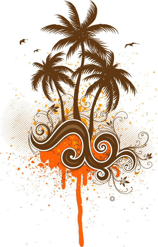 free vector 8 Tropic Islands Vectors