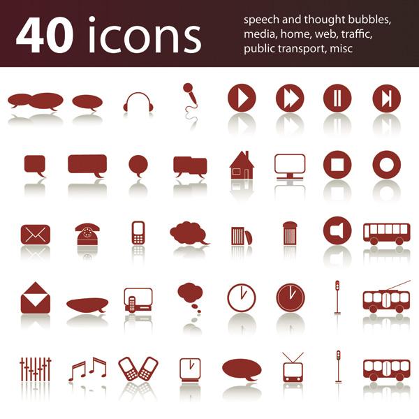free vector 80 simple icon vector