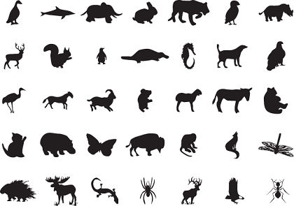 free vector 88 Free Vector Animal Silhouettes