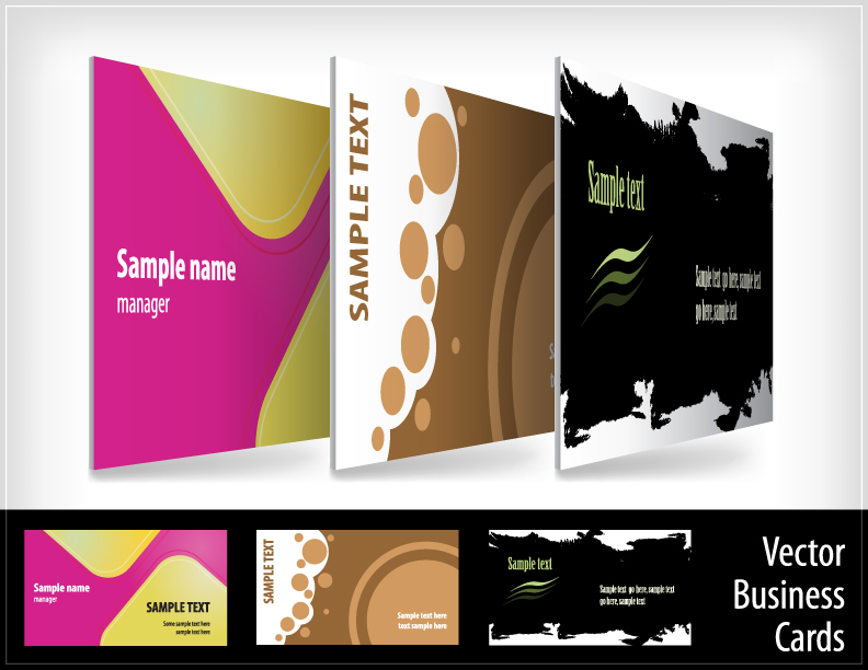 9 beautifully designed card templates vector Free Vector / 4Vector