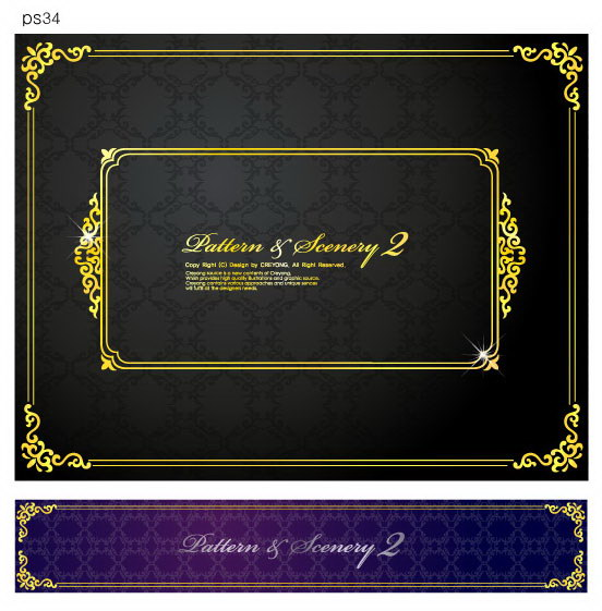 free vector 9 shades of gold lace vector