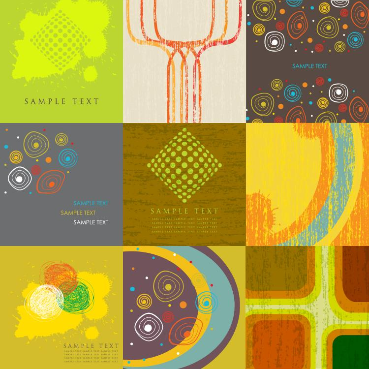 free vector 9 stylish vector background
