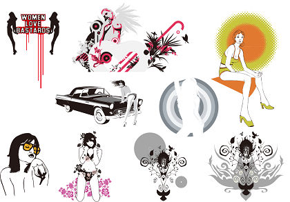 free vector 9 The Trend of Girl Vector