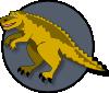 free vector A Cartoon Dinosaur clip art