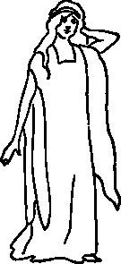 free vector A Character Representing Faith clip art