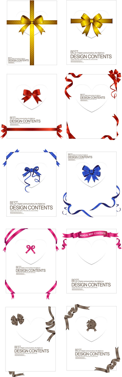 free vector A collection of exquisite ribbons 02 vector