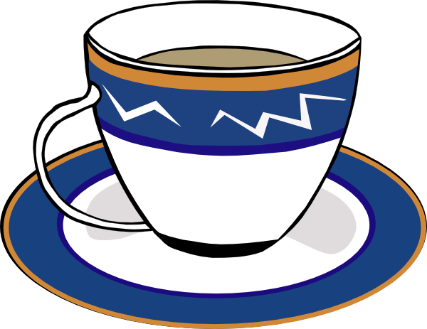 free vector A Cup And A Dish clip art