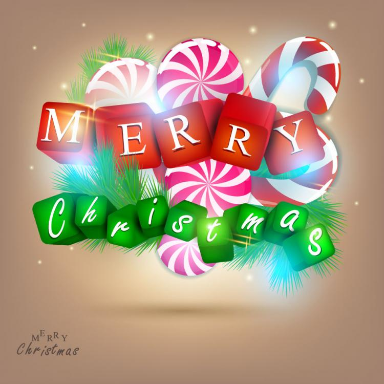 free vector A gorgeous christmas elements background 01 vector