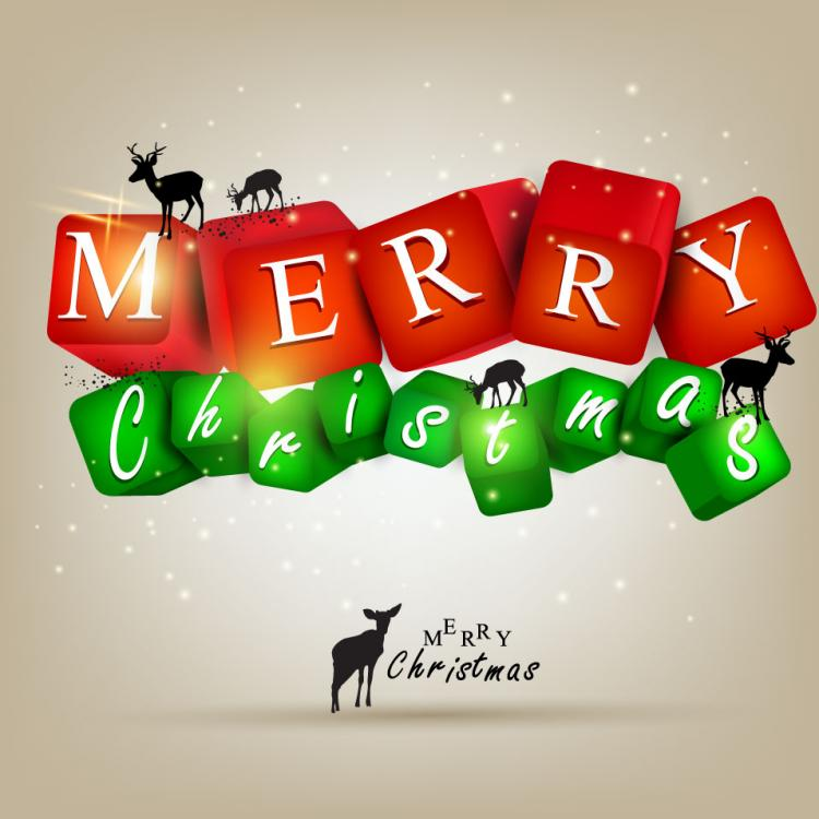 free vector A gorgeous christmas elements background 05 vector