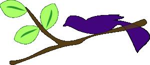 free vector A Gradient Blue Bird On A Tree Branch clip art