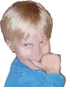 free vector A Happy Boy clip art