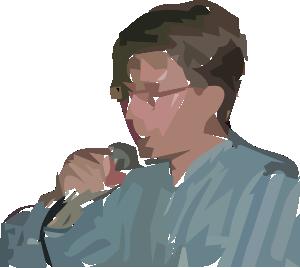 free vector A Man Singing clip art