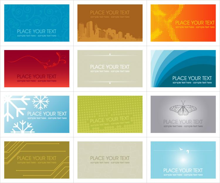 free vector A number of card template vector 2