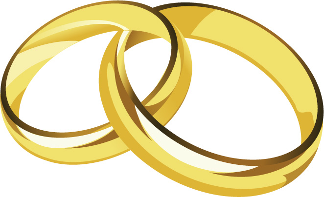 free vector A pair of gold rings