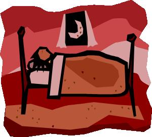 free vector A Person Sleeping clip art