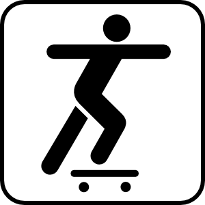 free vector A Person Sliding On A Skate Board clip art