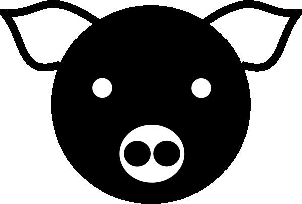 free vector A Simple Pig clip art