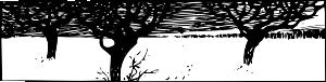 free vector A Snowy Scene clip art