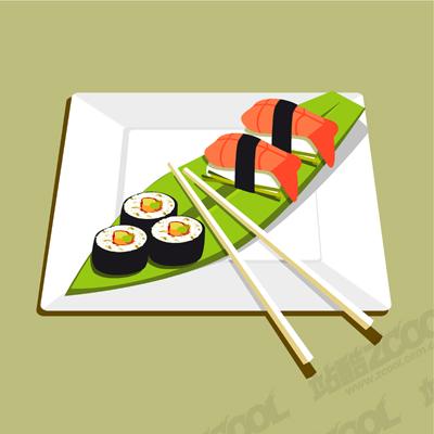 free vector A sushi vector