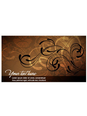 free vector A touch of elegance banner vector