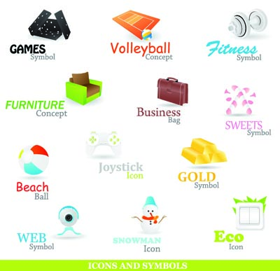 free vector A variety of beautiful icons vector