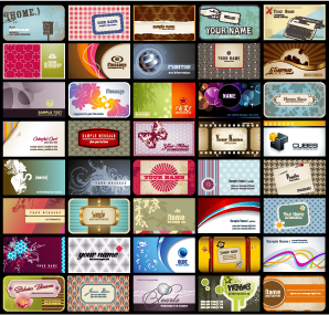 free vector A variety of card background vector
