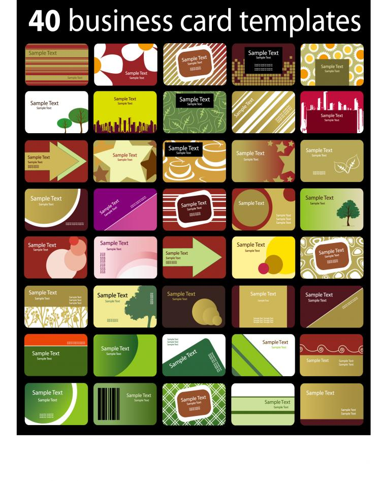 a variety of card background vector free vector 4vector