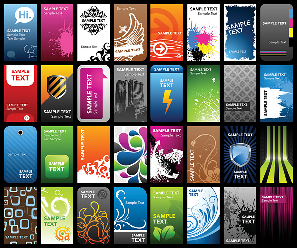 free vector A variety of card template vector the trend