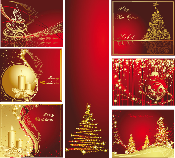 A variety of christmas background vector greeting cards free vector free vector a variety of christmas background vector greeting cards m4hsunfo