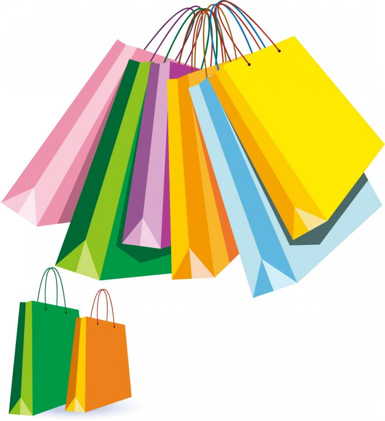 Cartoon Shopping Bags Clipart
