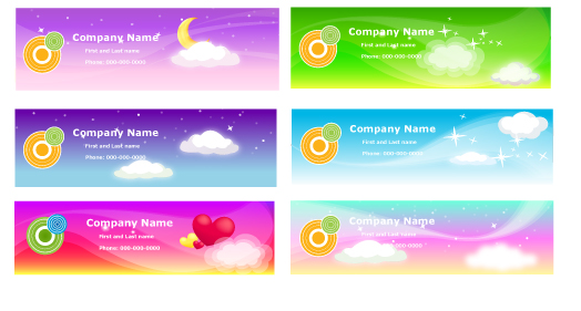free vector A variety of fantasystyle background vector 2
