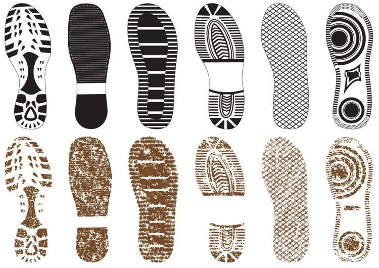 free vector A variety of fine shoe print 02 vector