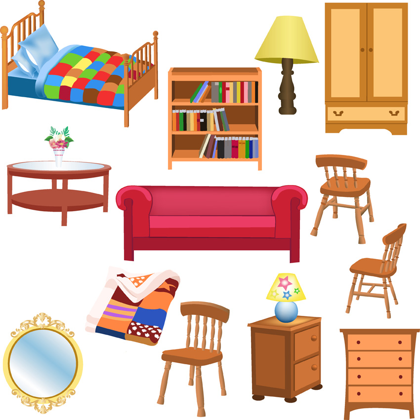 A Variety Of Furniture Clip Art Free Vector 4vector