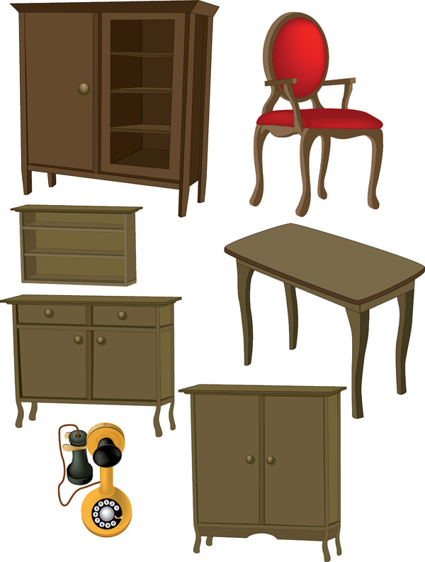 free vector A variety of furniture furniture clip art