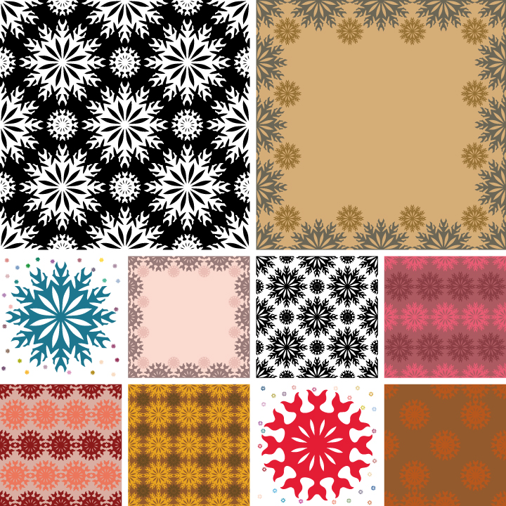 free vector A variety of lovely background vector