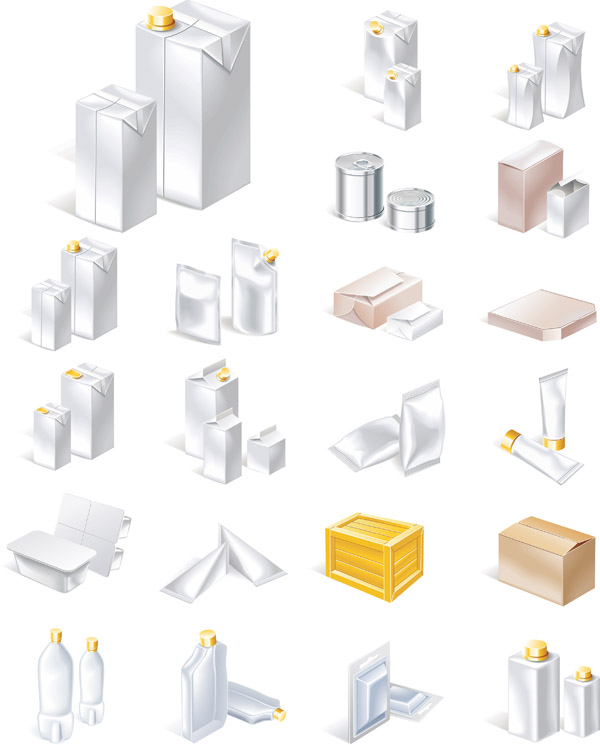 free vector A variety of packaging vector