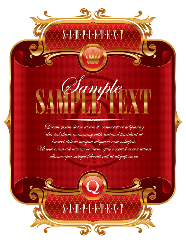 free vector A variety of ribbon label vector