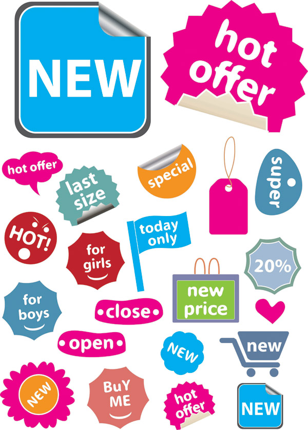 free vector A variety of shopping sites decorative graphics vector