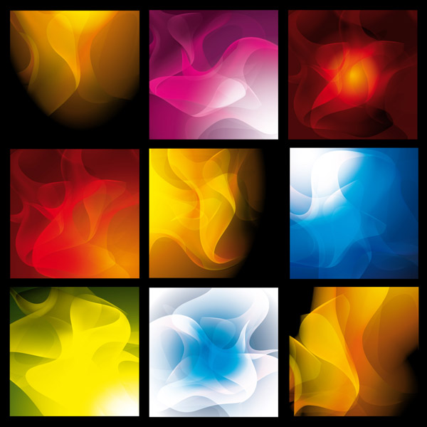 free vector A variety of smoke background vector