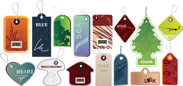 free vector A variety of tag vector
