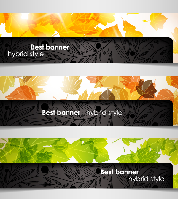 free vector A variety of topics banners 04 vector