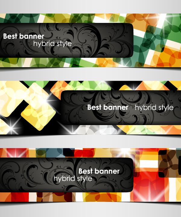 free vector A variety of topics banners 05 vector
