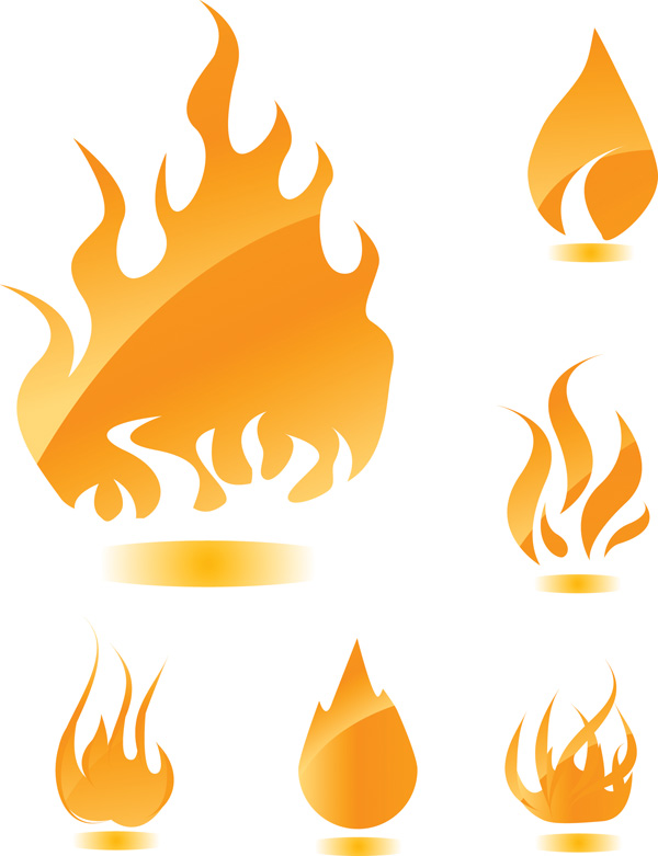 free vector A wide range of flame vector