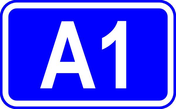free vector A1 Road Sign clip art