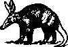free vector Aardvark clip art