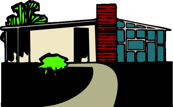 free vector Abitazione Villa Con Giardino clip art