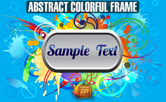 free vector Abstact Colorful Frame